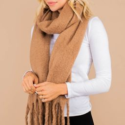 On Your Way Taupe Brown Fringe Scarf | The Mint Julep Boutique