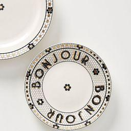 Bistro Tile Bonjour Bread Plates, Set of 4   Anthropologie (US)