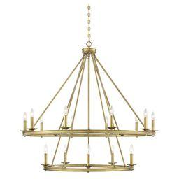 Savoy House Middleton Warm Brass 15 Light Chandelier 1 312 15 322   Bellacor   Bellacor