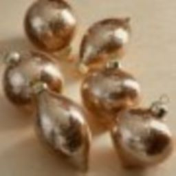 Champagne Gold-flecked Accent Ornaments, Set of Six   Frontgate   Frontgate