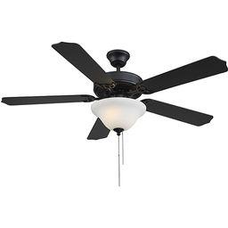 Savoy House First Value Matte Black LED Two Light Ceiling Fan 52 Ecm 589 89   Bellacor   Bellacor