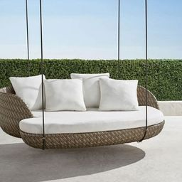 Malia Hanging Daybed in Pebble Finish | Frontgate | Frontgate