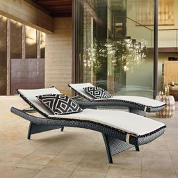 Balencia Black Chaises, Set of Two | Frontgate | Frontgate