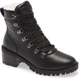 Caslon® Tatum Faux Fur Lined Lug Bootie (Women)   Nordstrom   Nordstrom