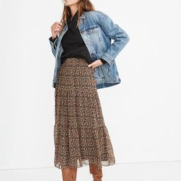 (Re)sourced Georgette Tiered Maxi Skirt in Folktale Paisley | Madewell