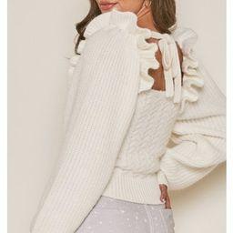 Annalise Ruffle Sleeve Sweater   Indigo Closet