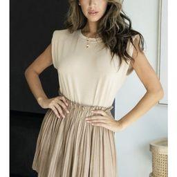 Serendipity Pleated Suede Mini Skirt   Indigo Closet