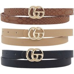 GG Skinny Belts   Indigo Closet