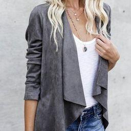 Sadie Suede Jacket in gray   Indigo Closet