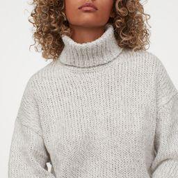 Chunky-knit Turtleneck Sweater   H&M (US)