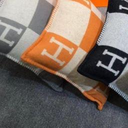 """H"" Throw Pillow Cover- Pre Order Nov 30th – The Styled Collection | The Styled Collection"