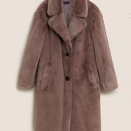M&S Collection  Faux Fur Longline Coat  Product code: T494269   Marks & Spencer (UK)