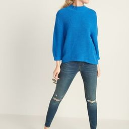 Mid-Rise Distressed Rockstar Jeggings for Women | Old Navy (US)