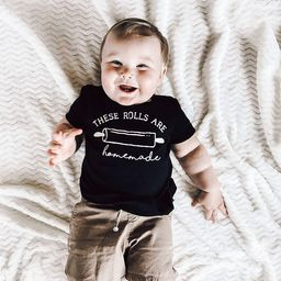 The rolls are homemade infant shirt or bodysuit, funny chubby baby bodysuit | Etsy (US)