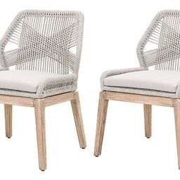 S/2 Easton Side Chairs, Taupe/Pumice   One Kings Lane