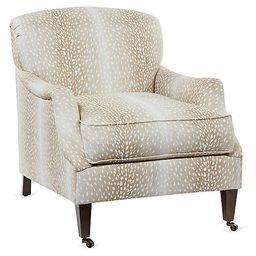 Magnolia Chair, Beige   One Kings Lane
