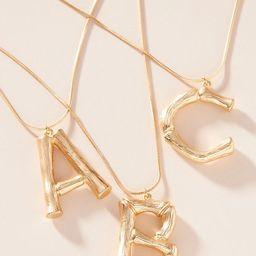Bamboo Monogram Pendant Necklace | Anthropologie (US)