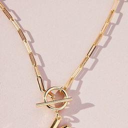Chain Link Monogram Necklace | Anthropologie (US)