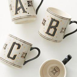 Tiled Margot Monogram Mug | Anthropologie (US)