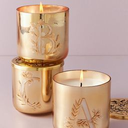 Holly Monogram Glass Candle | Anthropologie (US)