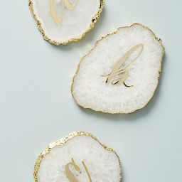 Monogram Agate Coaster | Anthropologie (US)