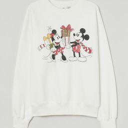 Printed Sweatshirt   H&M (US)