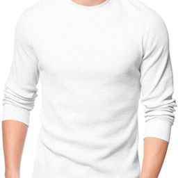 ToBeInStyle Men's Heavy or Medium Weight Premium Waffle Thermal Long Sleeve Crewneck Shirt   Amazon (US)