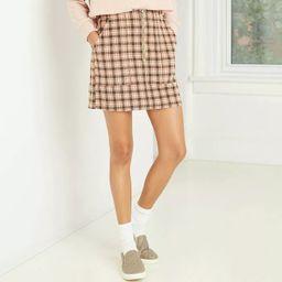 Women's High-Rise Zip-Front Corduroy Mini Skirt - Wild Fable™   Target