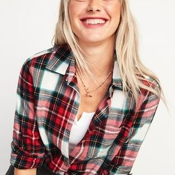 Classic Plaid Flannel Shirt for Women   Old Navy (US)