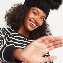 Cozy Bouclé Faux-Fur Pom-Pom Beanie Hat for Women   Old Navy (US)