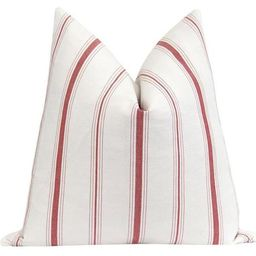 Tuscan Red French Cottage Stripe Pillow   Land of Pillows