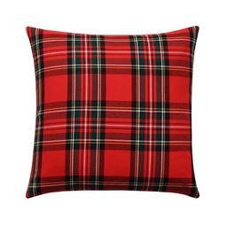 Holiday Red Tartan Plaid Pillow   Land of Pillows