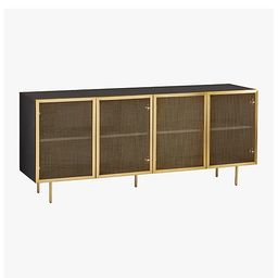 Trace Brass Wire Mesh Cabinet Credenza + Reviews   CB2   CB2