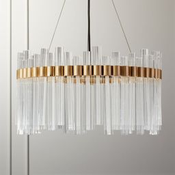 Orion Glass Crystal Chandelier + Reviews   CB2   CB2