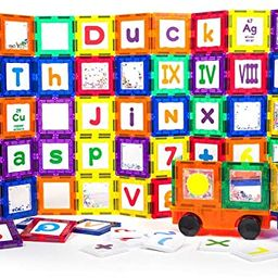 PicassoTiles 136 Piece S.T.E.A.M. Building Block Set with 66 Magnetized Clip-in Insert Cards Toy ...   Amazon (US)