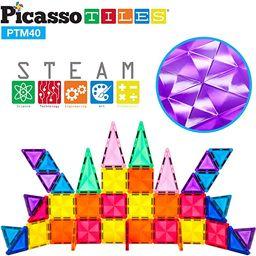 PicassoTiles 40 Piece Magnetic Building Block Mini Diamond Series Travel Size On-The-Go Magnet Co...   Amazon (US)