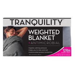 """Tranquility Weighted Blanket 12lb, 48"""" x 72"""", Gray   Walmart (US)"""