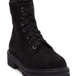 Champy Faux Suede Lace-Up Combat Boot | Nordstrom Rack