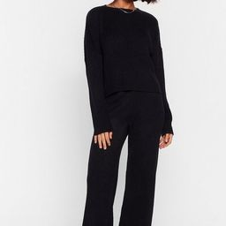 Knit Alone Sweater and Wide-Leg Lounge Set   NastyGal (US & CA)