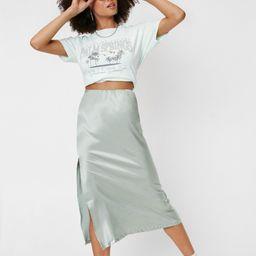 Let's Kick Split Satin Midi Skirt   NastyGal (US & CA)