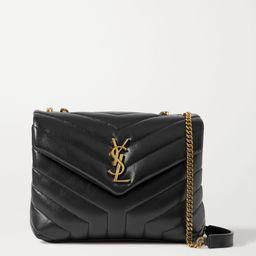 Black Loulou small quilted leather shoulder bag   SAINT LAURENT   NET-A-PORTER   Net-a-Porter (US)