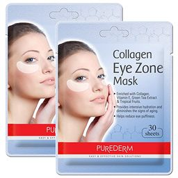 2 Pack Total 60(30 in each pack) Purederm Collagen Eye Zone Pad Patches Mask Wrinkle Care (2 Pack...   Amazon (US)