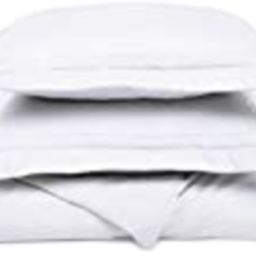 Super Soft Light Weight,100% Brushed Microfiber, Full/Queen, Wrinkle Resistant, White Duvet Cover wi | Amazon (US)