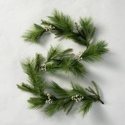 6' Faux White Berry Pine Garland - Hearth & Hand™ with Magnolia   Target
