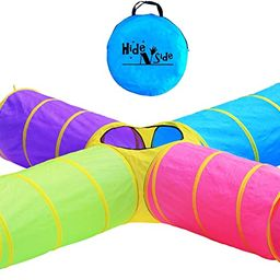 Hide N Side Kids Play Tunnels, Indoor Outdoor Crawl Through Tunnel for Kids Dog Toddler Babies Ch...   Amazon (US)