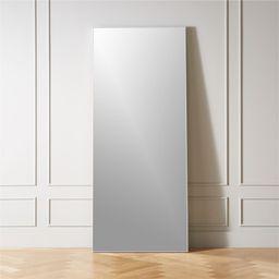 "Infinity White Floor Mirror 32""x76"" + Reviews | CB2 | CB2"