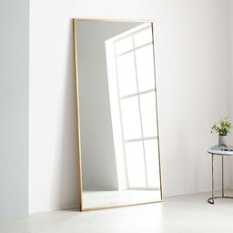 "Metal Frame Oversized 78"" Floor Mirror, Antique Brass | West Elm (US)"