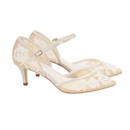 D'Orsay Nude Lace Kitten Heel | Bella Belle Shoes