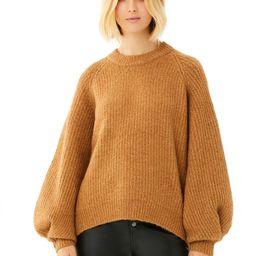 Scoop - Scoop Women's Balloon Sleeve Crewneck Sweater - Walmart.com | Walmart (US)