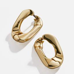 Michel Small Curb Chain Hoop Earrings | BaubleBar (US)